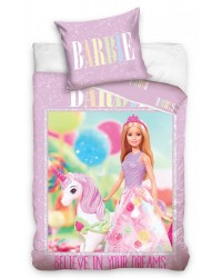 Barbie Princess Unicorn & Balloons Single Duvet Cover Set COTTON