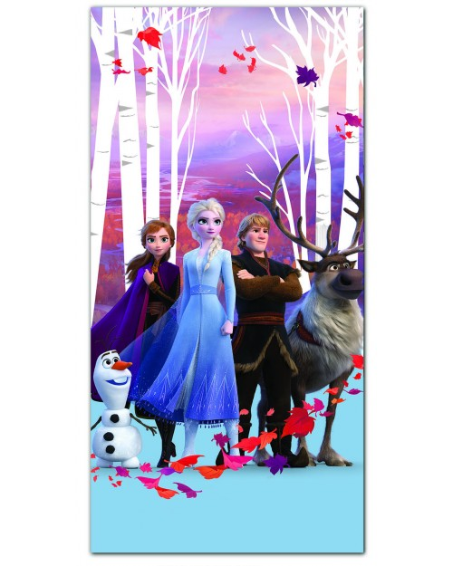 Frozen Elsa Anna & Olaf Beach Towel