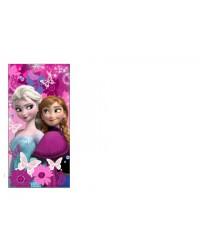 Frozen Elsa & Anna Pink Butterfly Beach Towel