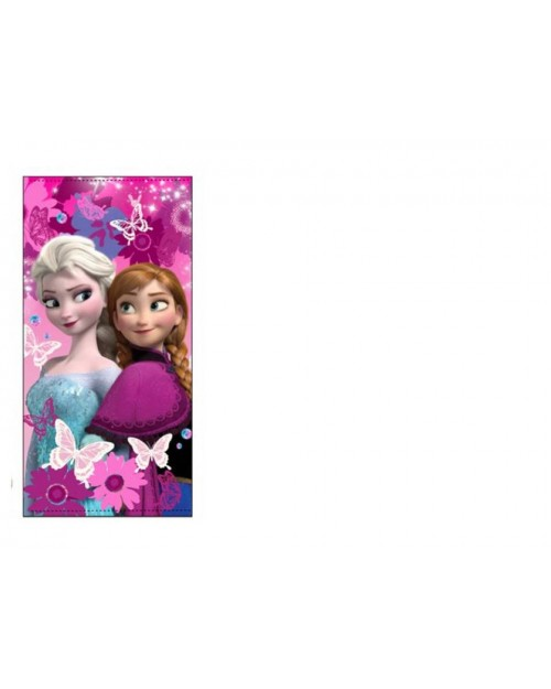 Frozen Elsa & Anna Pink Butterfly Beach Towel