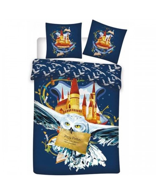 Harry Potter Blue Single Duvet Cover Set