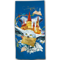 Harry Potter Hogwarts Owl Beach Towel Microfibre