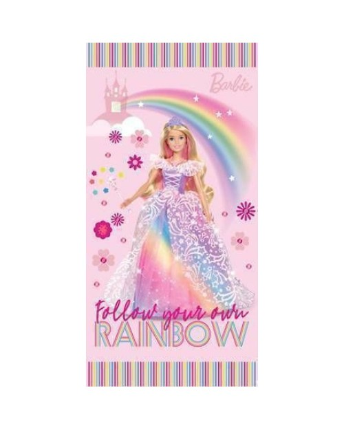Barbie Princess 100% Cotton Pink Beach Towel