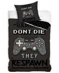 Gamer Respawn Bedding Duvet Set Reversible Single bed cover