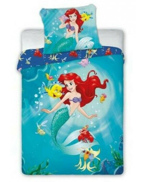 Disney Little mermaid Ariel Bedding set Toddler Reversible duvet Cover & Pillow