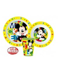 MICKEY MOUSE CHILDRENS TODDLERS  3 PC DINNER BREAKFAST SET PLATE BOWL CUP