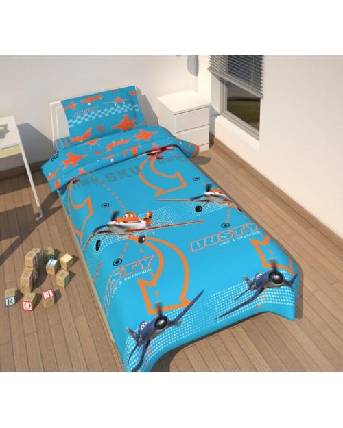 Disney Planes Single Bedding Set Blue Duvet cover 135 x 200 & pillow 80x80