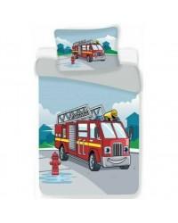 Fire Engine Truck Toddler bedding Bed set Cover & Pillow Duvet cover