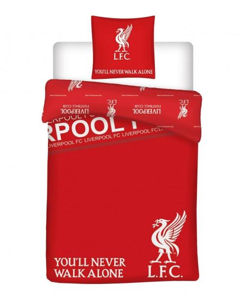 LFC You'll never walk alone Liverpool Football Club Single bedding Duvet Set Red