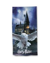 Harry Potter Hogwarts Owl Blue Beach Towel Swimming Holiday 70 x 140cm