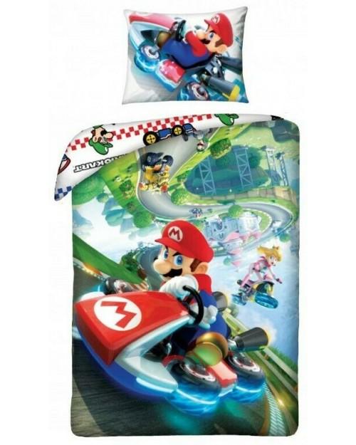 Super Mario Kart Single bedding 100% Cotton 140 x 200cm & 70 x 90cm