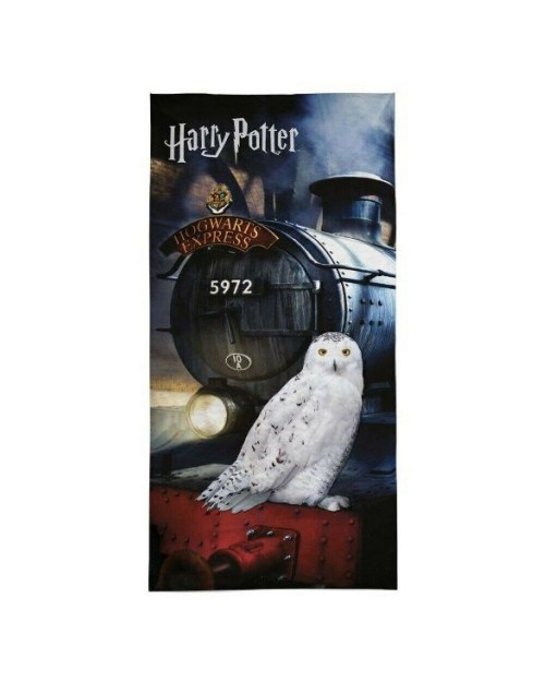 Harry Potter Hogwarts express & Owl Beach Towel Swimming Holiday 70 x 140 Cotton