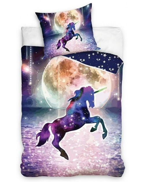 Unicorn Purple Bed Set Single Bedding set 100% Cotton