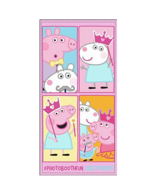 Peppa Pig Pink beach Towel Photobooth fun Best Friends swimming holiday bath