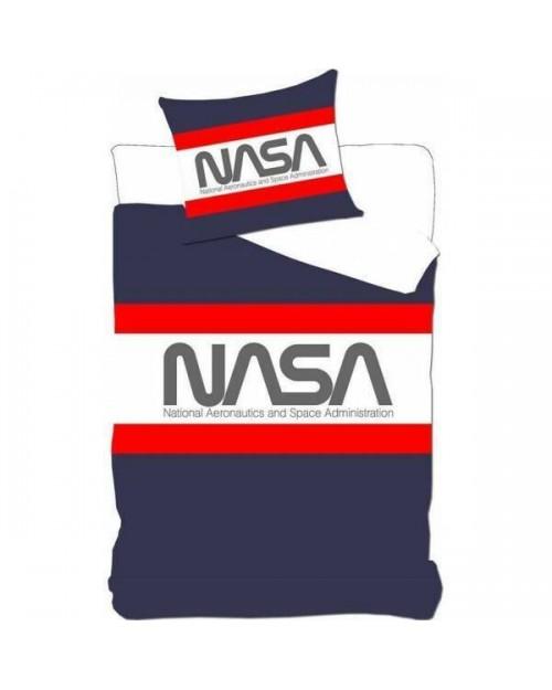 NASA Blue stripe Bedding Single Duvet cover & Pillow case
