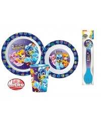 PAW PATROL KIDS TODDLERS 5 PC DINNER BREAKFAST SET PLATE BOWL CUP CUTLERY NEW