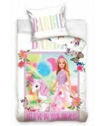 Barbie Toddler Bedding Pink & White Unicorn Cover & Pillow Duvet cover Bed set