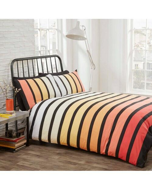 Single Rapport Soho Tropical Stripe Duvet Cover bedding duvet set pillow case
