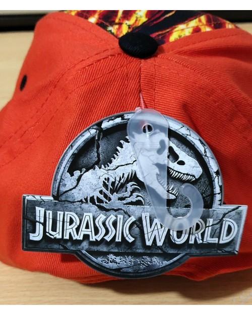 Jurassic World Cap Hat Dinosaur Sun Holiday Orange & Black Boys Girls kids child
