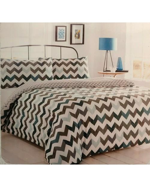 Chevron Blue  Double bedding duvet set Duvet cover and pillow case
