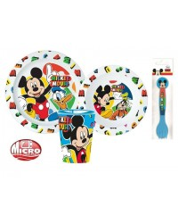 MICKEY MOUSE CHILDRENS TODDLERS  5 PC DINNER BREAKFAST SET PLATE BOWL CUP NEW