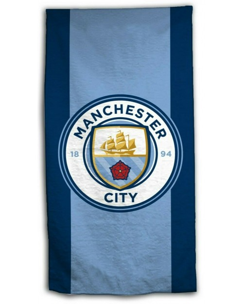 Man City Manchester City Football Club Beach towel & Face cloth set 70 x 140cm