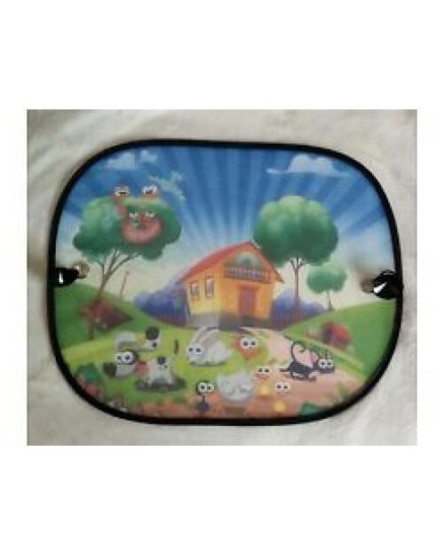 Car Window sun shades a Pair of window shades in Bright colours Farmhouse design
