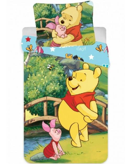 Winnie the Pooh Bridge Bedding Toddler Reversible Duvet Cover Pillow Bed set (2)