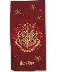Harry Potter Hogwarts Crest Red Beach Towel Swimming Holiday 70 x 140cm