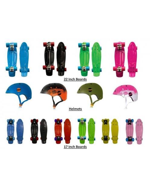 Skate Board Skateboard cruiser in Blue Black Pink Green 22 Inches Plastic