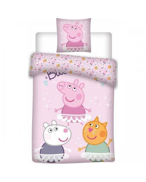 Peppa Pig Ballet Bedding Single Reversible Duvet Cover Pillow Bed set ballerina