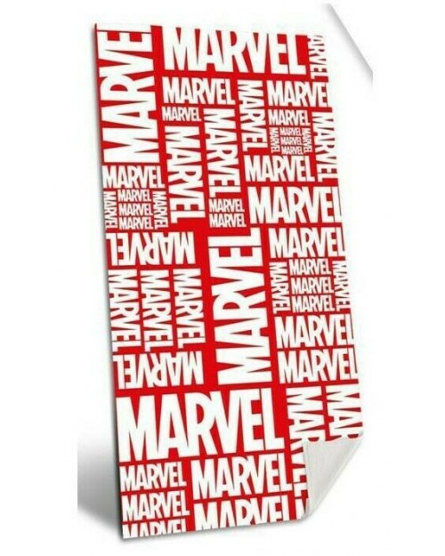 Marvel LOGO Avengers Red & White Cotton large towel Beach Swimming Holiday