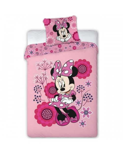 Minnie Mouse Bedding Single Reversible Cover & Pillow Duvet cover Bright Pink