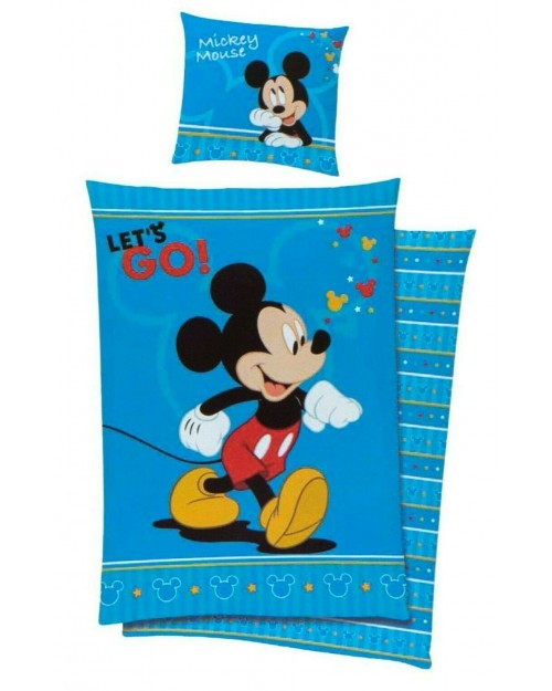 Mickey Mouse Blue Bedding Single Cover & Pillow Duvet cover