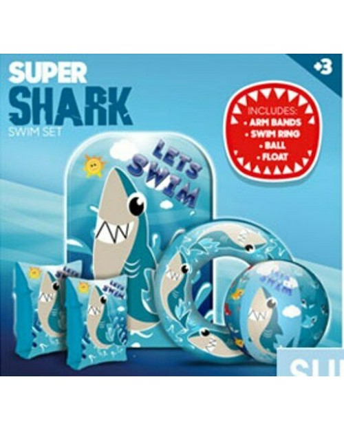 Summer Inflatable set Holidays Children Swimming Shark or Mermaid arm bands ring