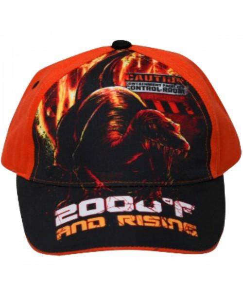 Dinosaur Jurassic World Park Kids Cap Hat Sun Holiday Orange & Black Boys Girls