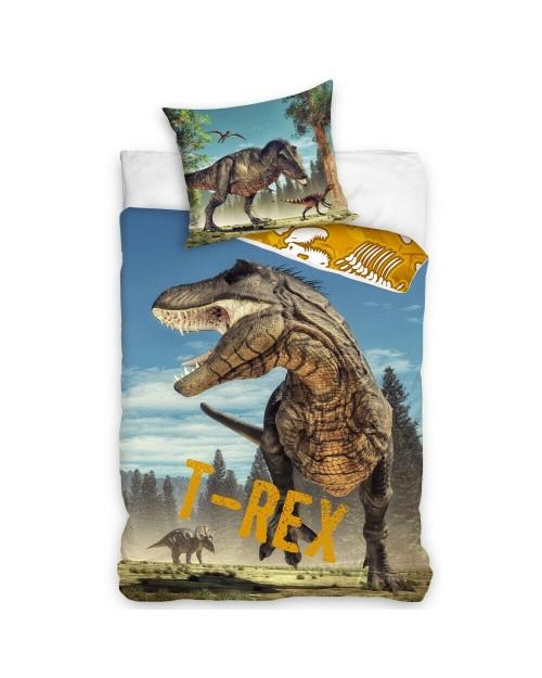 T-rex Dinosaur Dino Bed Set Single Bedding set 100% Cotton