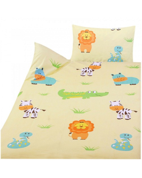 Toddler Bedding Cot Bed 100% Cotton Boy or Girl Animals Bed set
