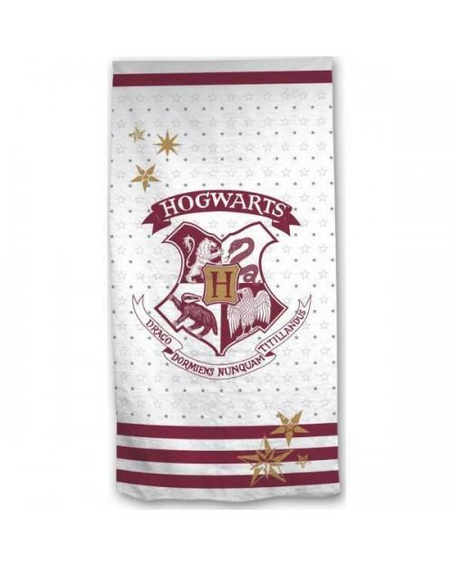 Harry Potter Hogwarts Crest Stripe Beach Towel Swimming Holiday 70 x 140cm