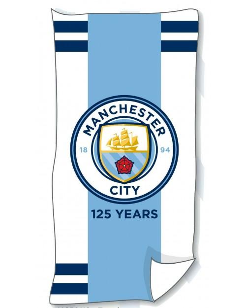 Manchester City Football Club Man City 100% Cotton towel Beach Swimming white