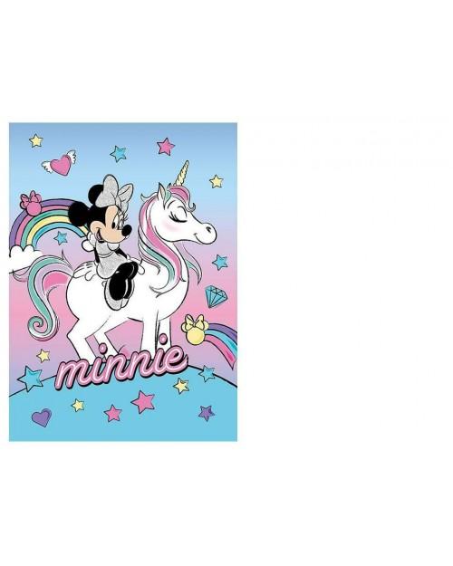 Minnie Mouse Unicorn Disney Fleece Blanket 100 x 140cm
