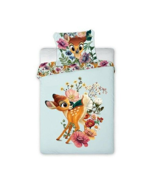 Bambi floral Bedding Toddler Cot Bed Cover & Pillow Duvet cover Disney