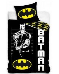 Batman Black white & Yellow Single Reversible Cover & Pillow Duvet cover style 2