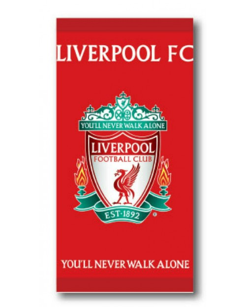 Liverpool Football Club LFC Beach Towel 2 designs Red Boys Girls & facecloths