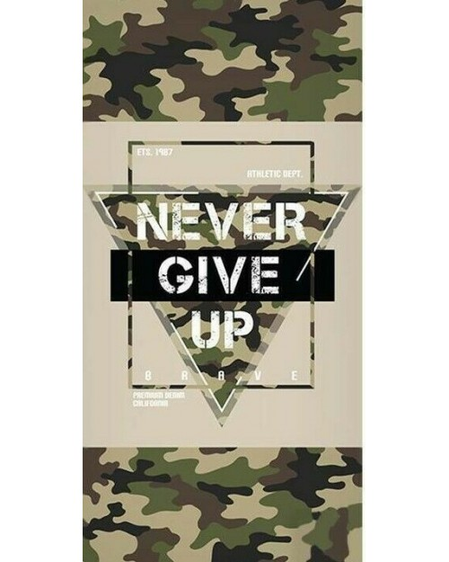 Never Give army Camo camouflage Beach Towel Swimming Holiday 70 x140 100% cotton
