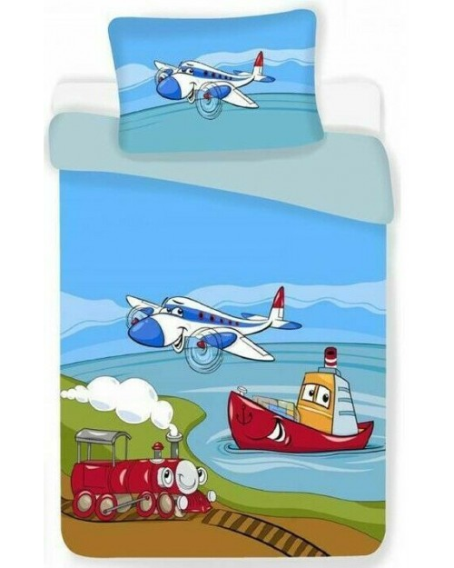 Vehicles Airplane Toddler bedding Bed set Cover & Pillow Duvet cover