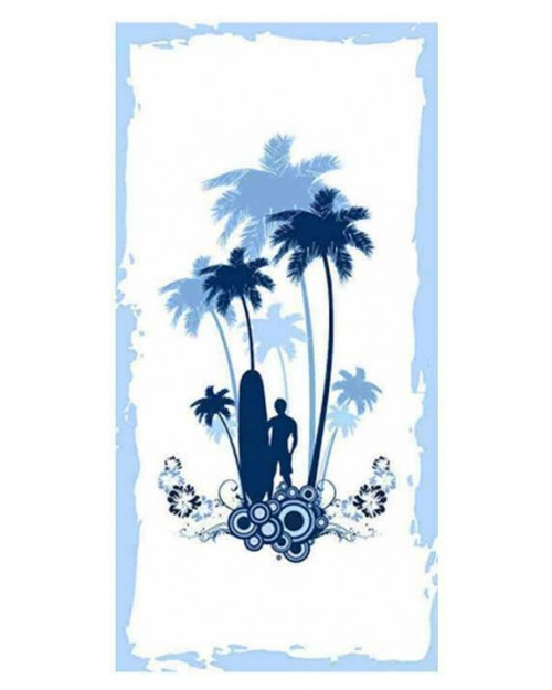 Beach Towel Blue & White Swimming Holiday Large 140 x 70 child adult