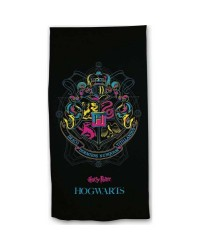 Harry Potter Hogwarts Black Beach Towel Swimming Holiday 70 x 140cm