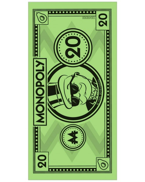 Monopoly Money Beach Towel 140 x 70cm Microfibre Swimming