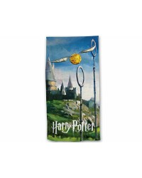 Harry Potter Hogwarts Quidditch Beach Towel Swimming Holiday Cotton 70 x 140cm